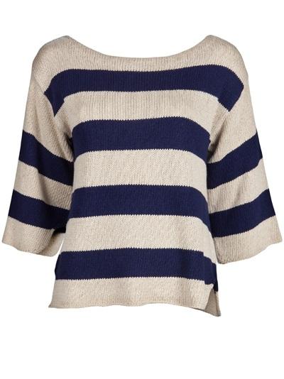 By malene birger stripe boatneck sweater