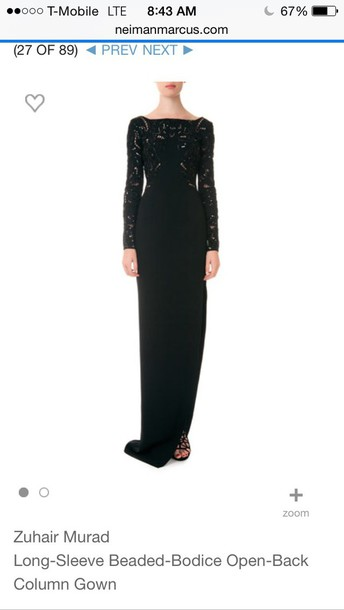 dress zuhairmurad beaded long dress elegant dress floor length dress prom dress long prom dress