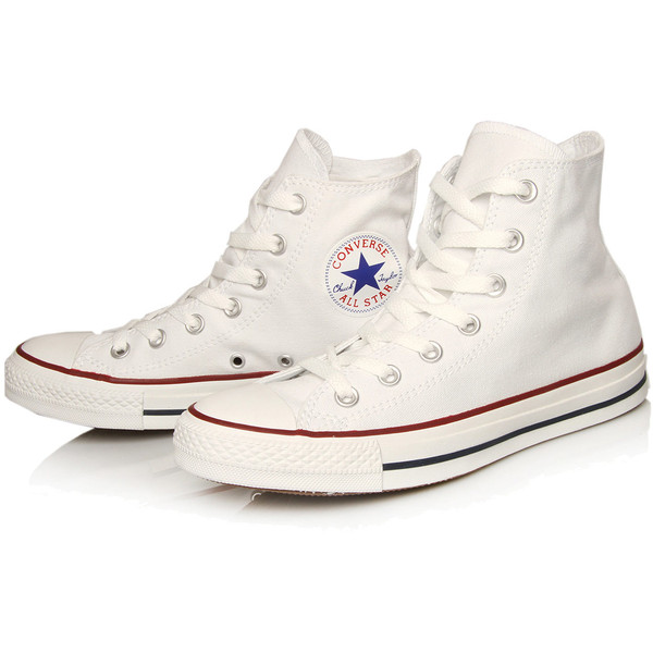 Converse White Chuck Taylor All Star Hi Top Trainers - Polyvore