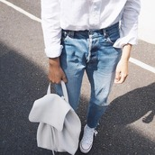 bag,leather backpack,white,backpack,tumblr,tumblr outfit