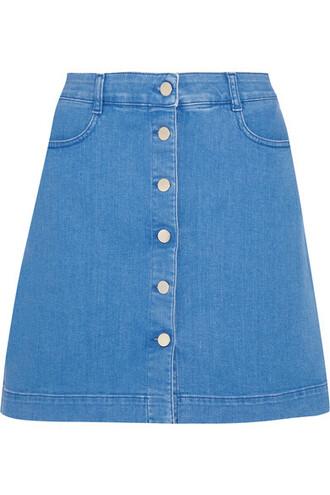 skirt mini skirt denim mini blue