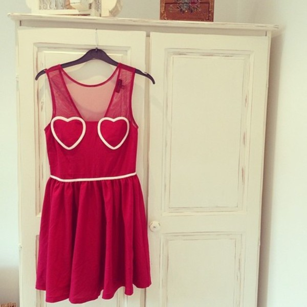 dress clothes pink heart dress pink dress cute dress
