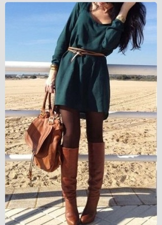 dress green green dress emerald emerald green fashion fall outfits fall dress trendy hipster style clothes winter outfits vintage long sleeve dress forest green