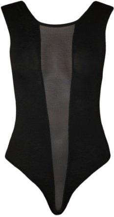 Papermoon - Damen schwarze Mesh-Stretch-Trikot ärmellos top Body - schwarzen Design - Größe 36-42: Amazon.de: Bekleidung