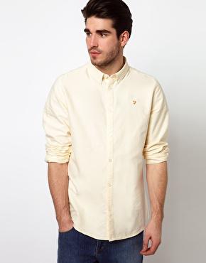 Farah vintage oxford shirt with button down collar at asos