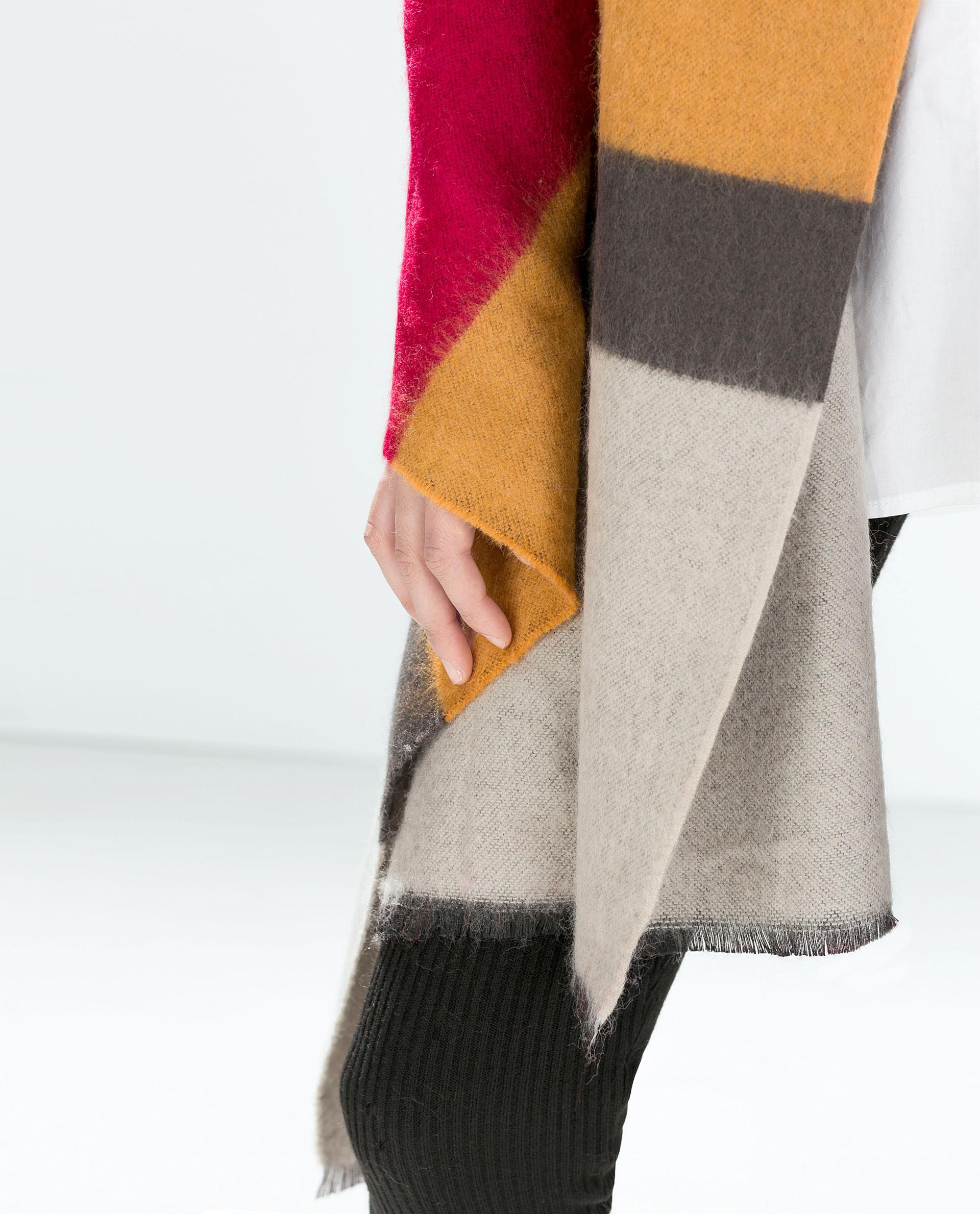 striped scarf scarves accessories zara