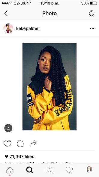 jacket supreme jacket north face yellow supreme yellow jacket windbreaker