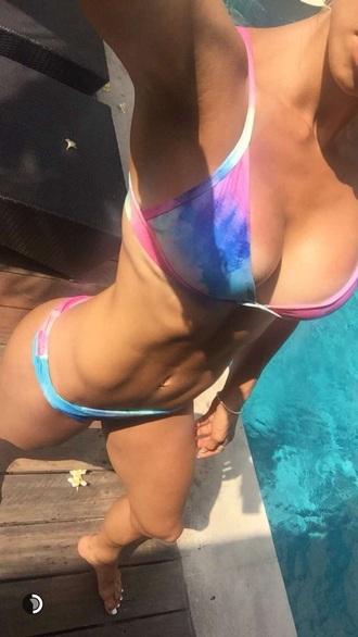 swimwear rainbow bikini