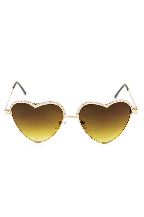 I HEART YOU SUNGLASSES - Brown/Gold | Haute & Rebellious