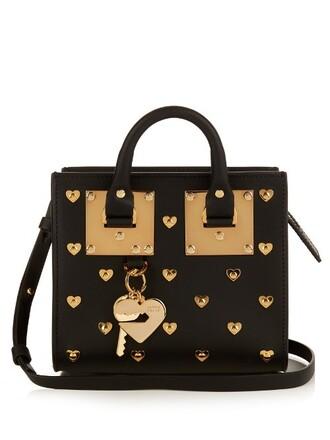 cross mini bag leather gold black