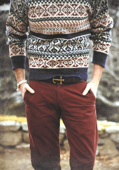 anchor winter sweater brown 11 winter outfits menswear hipster menswear