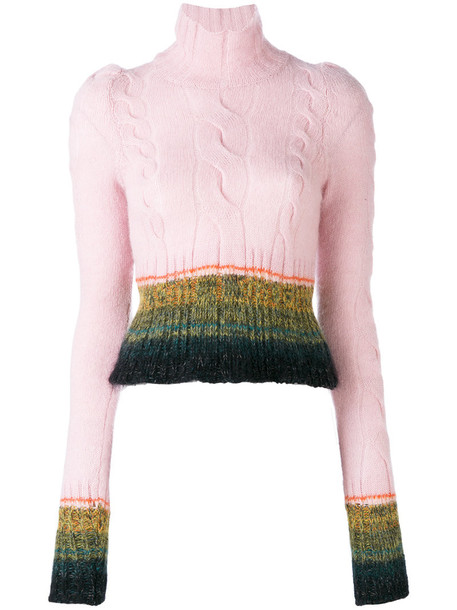 A.F.VANDEVORST jumper women wool purple pink sweater