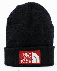 Amazon.com: Hey Fuck Face Beanie(the North Face): Sports & Outdoors