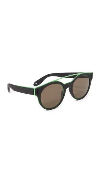 sunglasses aviator sunglasses black green brown
