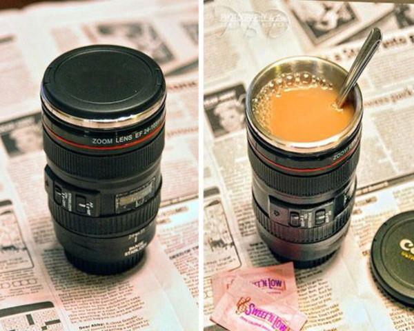 tank top camera lens cup camera mug travel mug