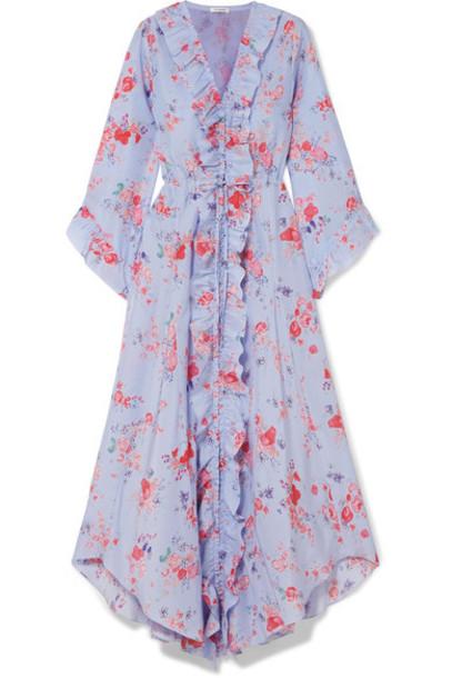 Vilshenko dress midi dress midi floral print silk lilac