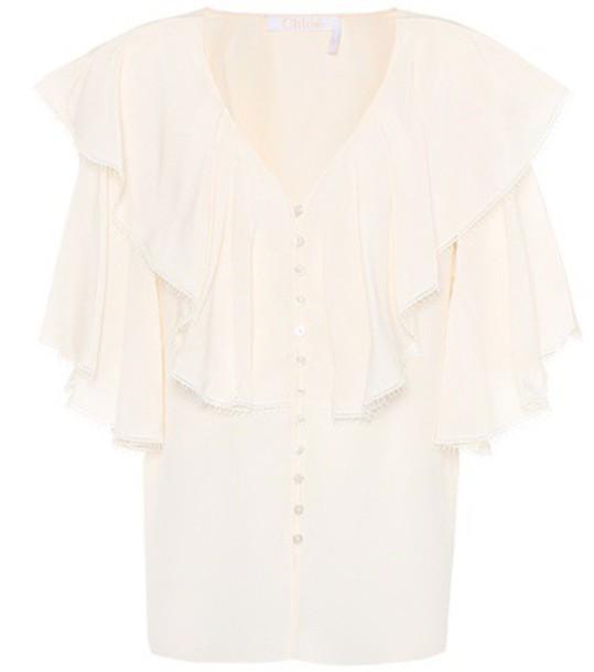 Chloe top silk white