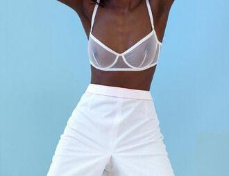 blouse bra nipples white see through see thru underwire underwire bra