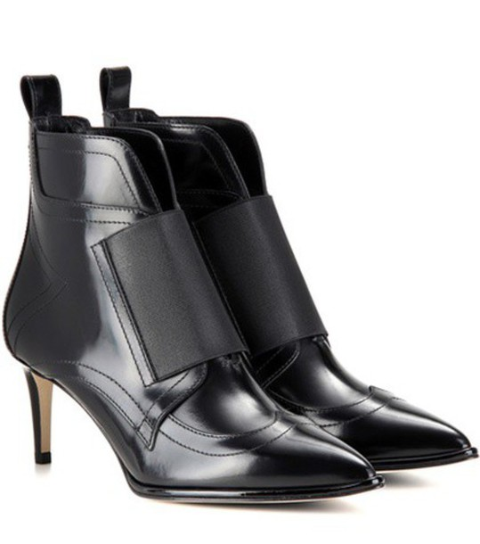 Jimmy Choo Mazzy 65 Leather Ankle Boots in black