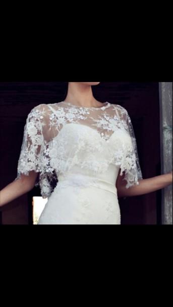 coat lace wedding dress stole