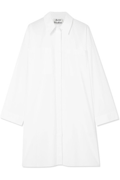 dress shirt dress white cotton