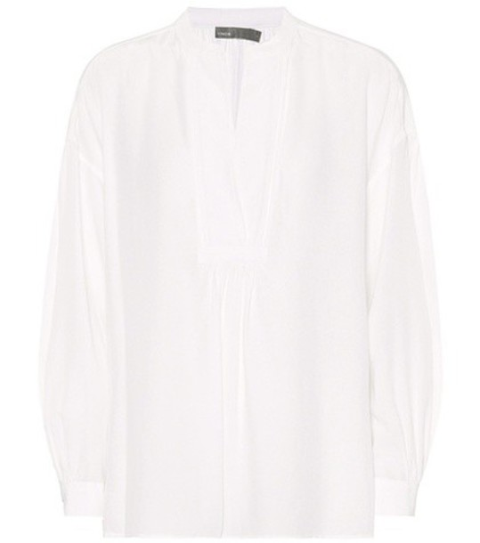 Vince blouse silk white top
