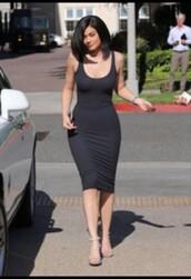 kylie jenner,bodycon dress,black dress,dress