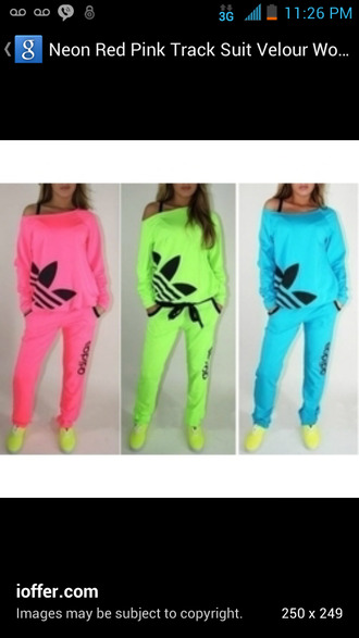 sweater shirt neon adidas tracksuit