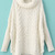 White Long Sleeve Turtleneck Chunky Cable Knit Sweater - Sheinside.com