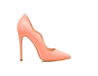 shoes high heels pumps coral summer shoes