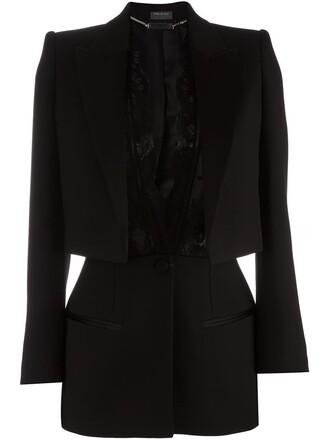 blazer layered black jacket
