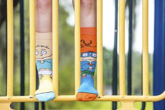 socks odd sox fashion trendy chuckie tommy hilfiger style dope nickelodeon rugrats socks and sandals cute socks knitted socks