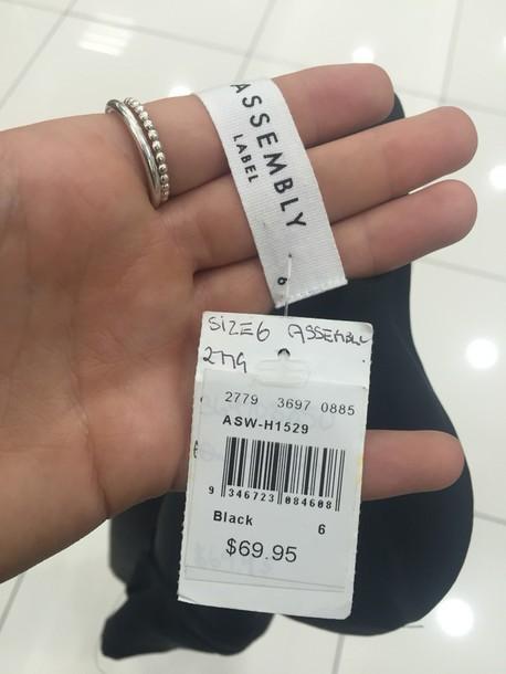 dress assembly label black silk dress
