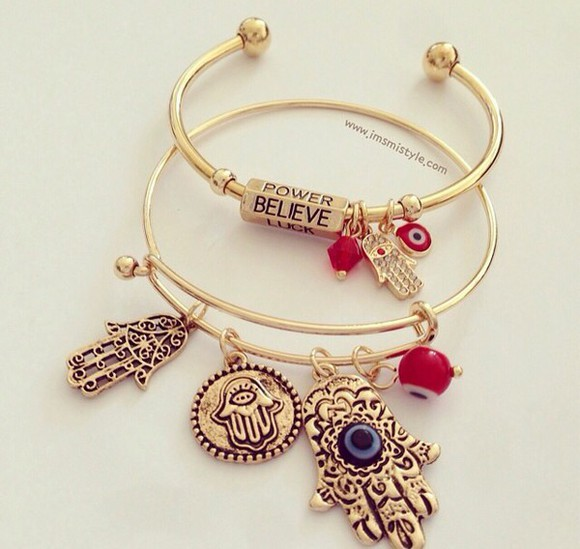 bangles jewels bracelets gold hamsa