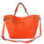 Michael Kors Perforated Saffiano Large Orange Tote Handbags