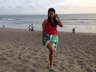 swimwear tropical round towel bikini cover up beachwear