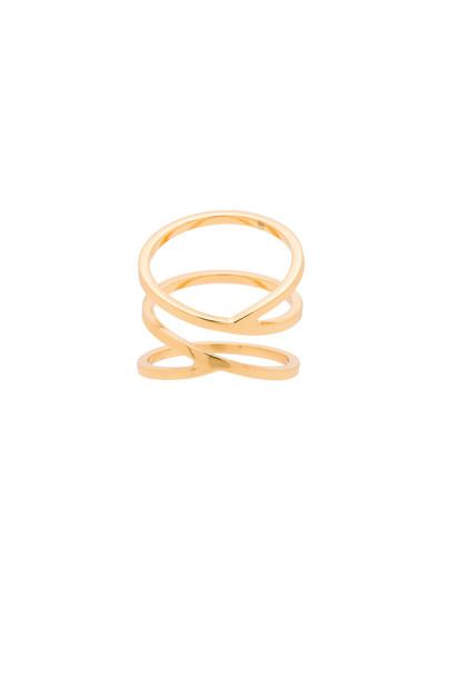 gorjana Zoe Crossover Ring in gold / metallic