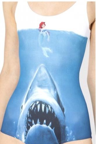 blouse swimwear the little mermaid jaws