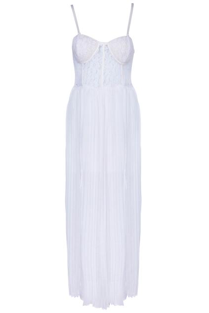ROMWE | Split Side White Bandeau Dress, The Latest Street Fashion