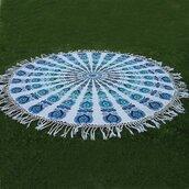 home accessory,mandala roundies,beach roundies,roundies,indian beach roundies,wholesale beach  roundies,tapestry,mandala,round mandala,blue mandala,mandala roundie