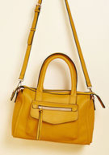 Modcloth satchel handbag yellow bag