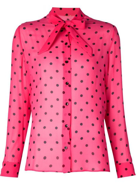 Saint Laurent shirt print purple pink top