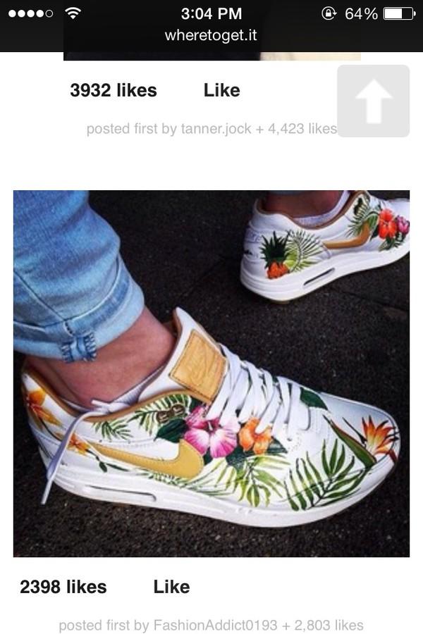 Nike Men Women Air Floral Max Sneakers Print Nwm80n