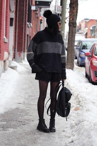 babes in velvet blogger oversized sweater oversized turtleneck sweater