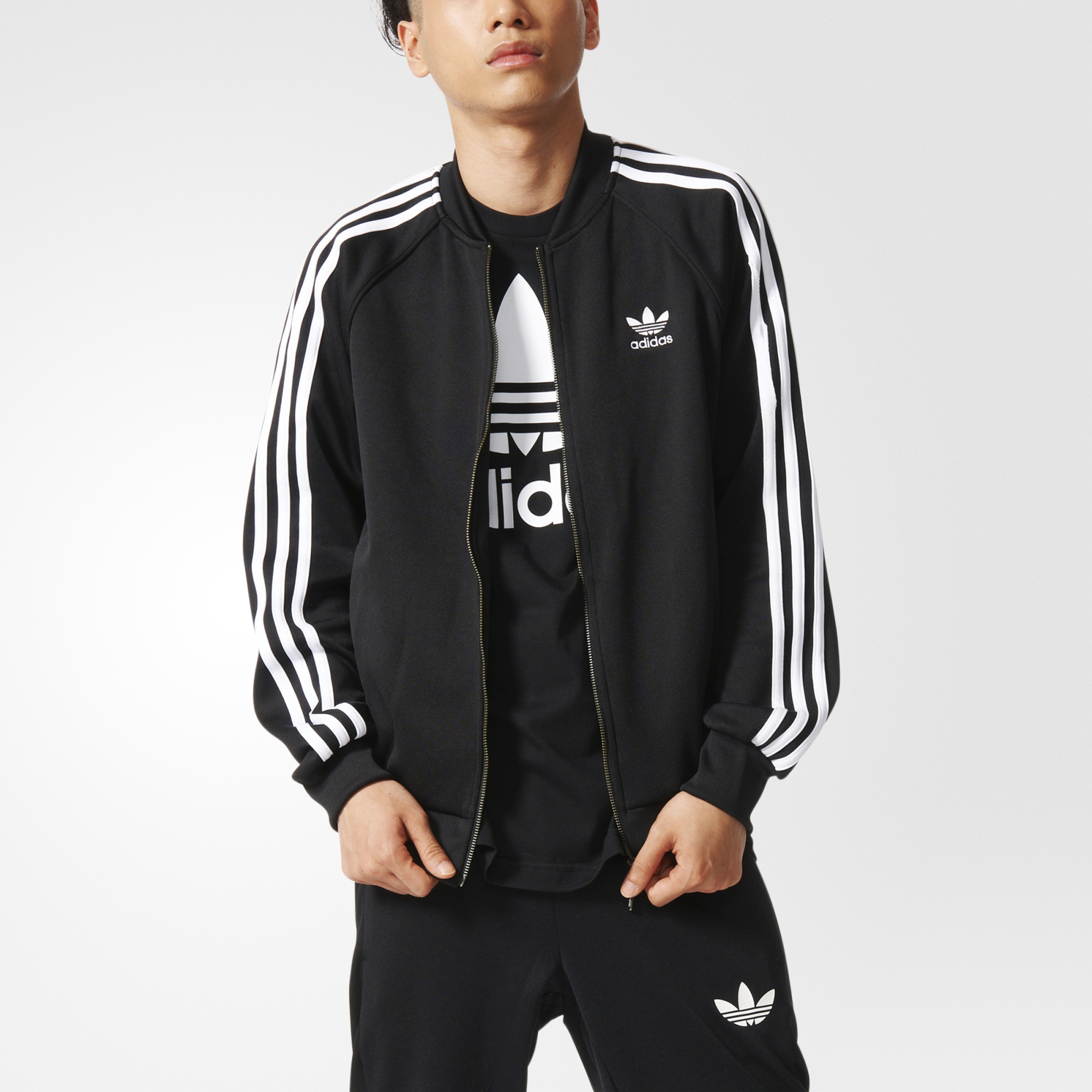 adidas superstar track jacket black adidas us. Black Bedroom Furniture Sets. Home Design Ideas