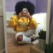 shirt,mustard sweater,yellow sweater,sweatshirt,nike,sweater,yellow,nike sweater,oversized sweater,yellow nike sweater,yellow nike