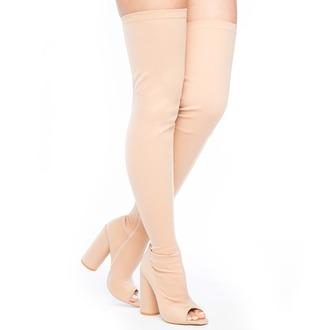 shoes boots nude nude shoes nude boots nude thigh high boots peep toe flyjane thigh highs thigh high boots peep toe boots