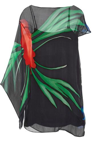 dress chiffon dress chiffon floral print silk black