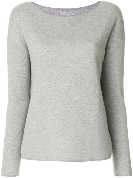 Majestic Filatures - Camiseta sweater - women - Cotton/Cashmere/Wool - 2, Grey, Cotton/Cashmere/Wool