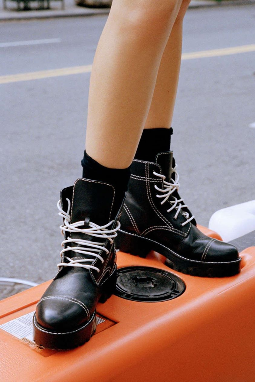 UO Juliette Treaded Lace Up Boot